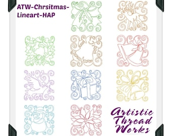 Christmas-Continuous-Lineart-HAP ( 10 Machine Embroidery Designs from ATW )