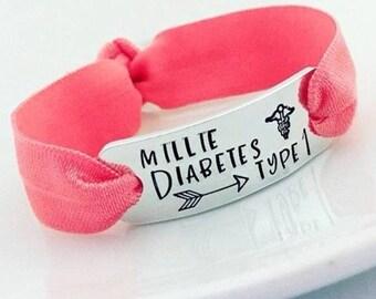 Medical Alert Bracelets, Diabetes Type 1 Charm, Medical Jewellery, Epilepsy, Epileptic, Jewelry, Stretchy Bracelet, Autism, All Conditions