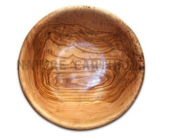 22 cm olive wood Salad Bowl.  Olive Wood Salad Bowl