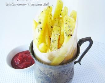 Mediterranean Rosemary Salt, Gourmet Salt, Food gift, Foodie, Finishing Salt, Herb Blend