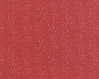 Polka Dots and Paisleys Polka Dot Swirls Red - 1/2yd