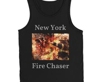 New York Firefighter Tank Top Chasing Fires NYPD