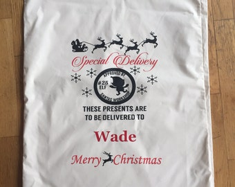 Personalized Santa Sacks Bags Gifts from Santa Clause Canvas Bag Family