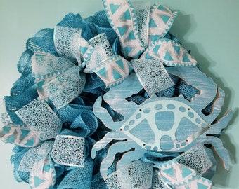 Blue crab wreath