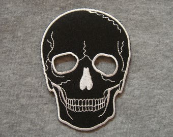 Black Skull Patches Applique Embroidered Iron on Patch