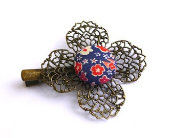 Liberty, liberty Kayoko clip, fascinator flower clip