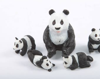 Baby Surprise In My Pocket, Patsy, Panda Mother, With Four babies, Panda Family, Vintage, Toys, Hasbro, Plastic ~ The Pink Room ~ 170320