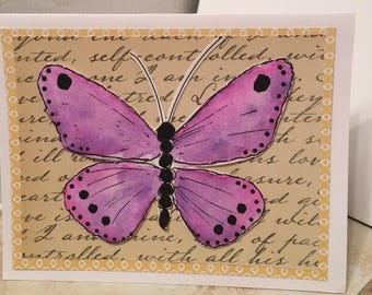 NOTECARD Set of Four Butterfly NoteCards