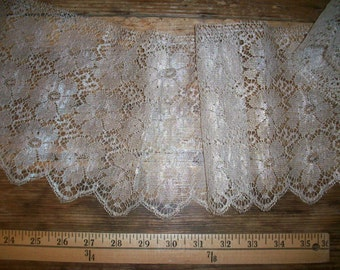 silver metal and silk lace yardage french antique Divine