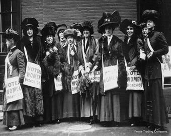 Votes For Women March - 1913 - NYC - Photo - Suffrage - 19th Amendment - Suffragists - Equal Rights - Feminism - Woman - Women - Voting