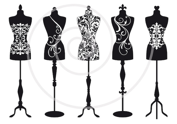 vintage mannequin digital clip art tailor s dummy clipart dress rh etsystudio com free dress form clip art free dress form clip art