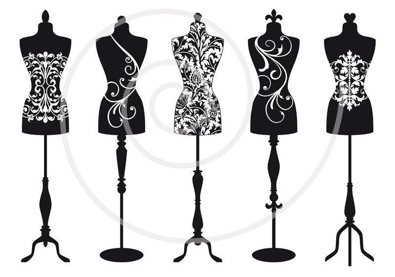 Design Chic Decorative Dress Form Boutique Dress Form Designs With