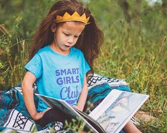 Smart Girls Club Girls Boys Gender Neutral Baby Kids T Shirt Short Sleeve Gift