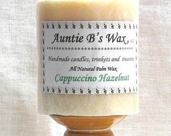 Cappuccino Hazelnut - Palm Wax Pillar Candle