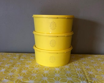 Set of 3 Tupperware Canisters