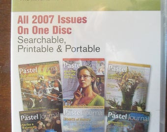 The Pastel Journal Magazine 2007 Back Issues DVD disc 6 issues Annual disc new sealed