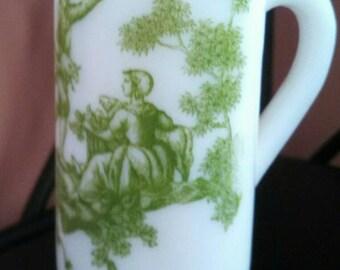 Vintage Avon Milk Glass Mini Vase
