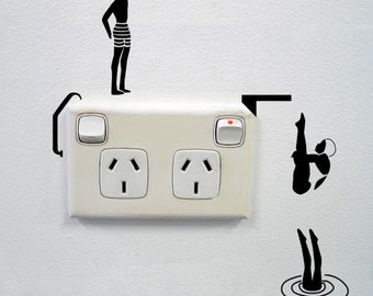 Divers Wall Sticker for Power points and light switches