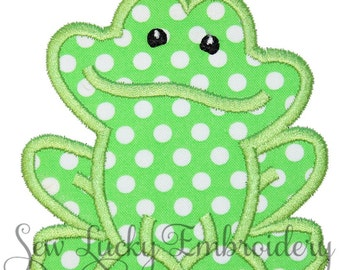Mr. Frog Applique Embroidered Patch , Sew or Iron on