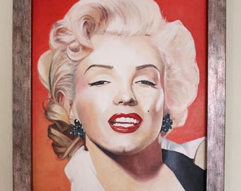 Marilyn Monroe (framed oil painting, 2017)