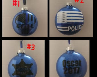 Police ornament **free shipping**
