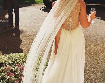 Tulle Cape Veil - Bridal Shoulder Veil - Wedding Cape - Bridal Veil - Bridal Cape Veil - Bridal Cape