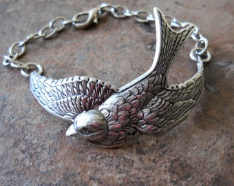 Soaring Bird  Cuff Bracelet by Enchanted Lockets
