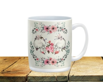 Sugar Skull  Mugs Cups, Day Of The Dead, Forever Skulls Floral