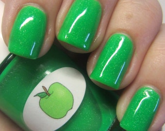 Neon Shimmer Jelly Apple Nail Polish