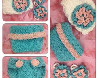 "Crochet ""Abbygael"" gift set"