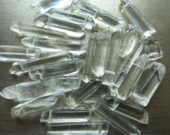 Quartz Points Polished Beads Clear Natural Quartz 25 PC Lot