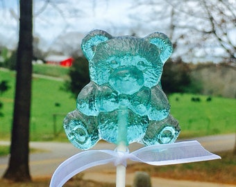Bear Lollipops Event Package 100, Wedding Favors, Baby Shower Favors, Favors, Unique Flavor, Party Favor, Teddy Bear