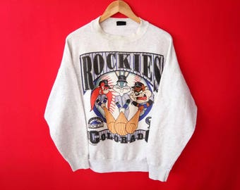 vintage cartoon tazmania sweatshirt rockers mens