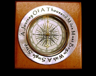 Inspirational Compass for the Graduate1 - A Journey Of A Thousand Miles Must Begin With A Single Step