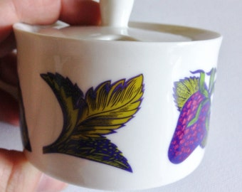Crabtree and Evelyn lidded china Jam or preserve Pot lovely design