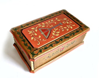 Musical Jewelry Box, ANRI REUGE Carved & Painted Music Box, Hand Painted Wood Music Box, Lara's Theme Music Jewelry Box, Dr Zhivago Bpx
