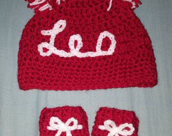 Newborn/ Baby hat and mittens