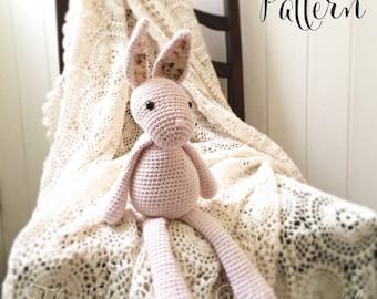 Florence the Vintage Bunny Amigurumi Crochet Pattern PDF E-Book Rabbit Toy