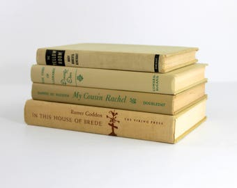 Old Books for Decor, Vintage Book Set, Home Decor Books, Book Stack, Decorative Books for Display, Books for Decoration, Tan Beige Neutral