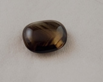 Phantom Citrine Loose Natural Untreated Double Sided Cushion Shaped Cabochon with Chevron Ghost Growth Lines