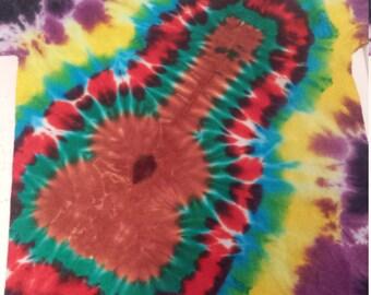 Guitar Shape Tie Dye