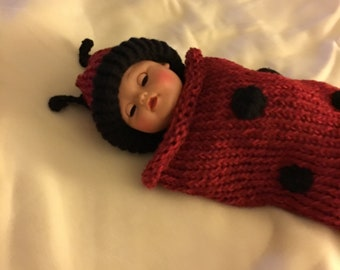 Lady Bug Crocheted Cocoon