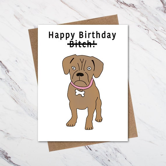 Funny Dog Birthday Card Funny Birthday Card For Dog Lovers