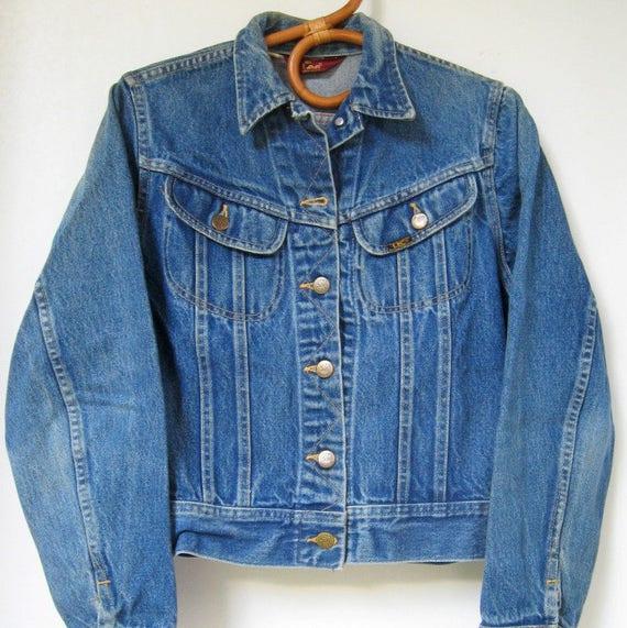 Lee Denim Trucker's Jacket Denim Jacket Size Men's 46 XL Vintage 80's Pockets Classic Denim Jacket Lee IyYXKG
