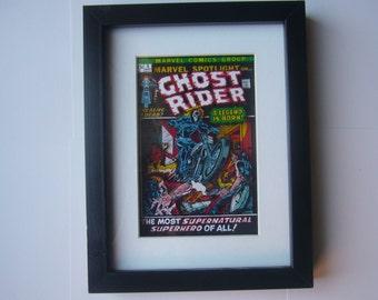Ghost Rider Comic 3D Shadow Box Framed Art ( issue 5 ) diorama geek home decor marvel