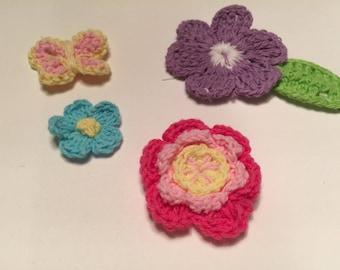 Crocheted Sew On Appliqué - Flowers