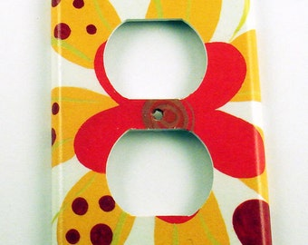 Decorative Switch Plate Light Switch Cover Wall Decor Single Switchplate  Outlet  Cayenne (254O)