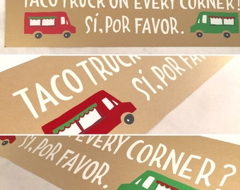 Taco Trucks Long n' Skinny Poster