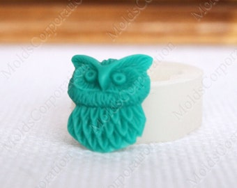 Owl mold, Pendant silicone mold, Cabochon mold, Resin bird mold, Polymer clay mold, Animal mold, Food safe mold, Candy mold DIY Jewelry mold