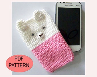 PDF Mobile Case Crochet Pattern, mobile case tutorial, diy handcrafts, crochet tutorial